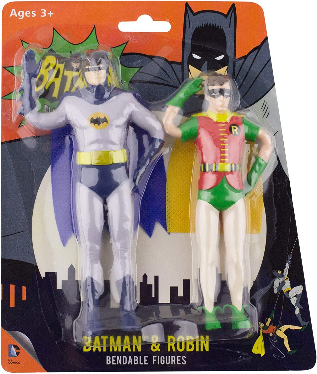 DC DIRECT COLLECTIBLES SUPER FRIENDS BATMAN FIGURE OF THROUGH THE AGES GIFT SET