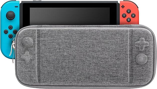 MoKo Funda Portátil Compatible con Nintendo Switch, Estuche rígido ...