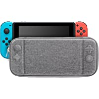 MoKo Slim Carry Case for Nintendo Switch, Travel Portable Storage Case Pouch Hard Protective Shell Cover Box with 10…