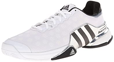 wholesale dealer 7f9bc 3020c adidas Performance Men s Barricade 2015 Tennis Shoe, White Core Black Bright  Red,