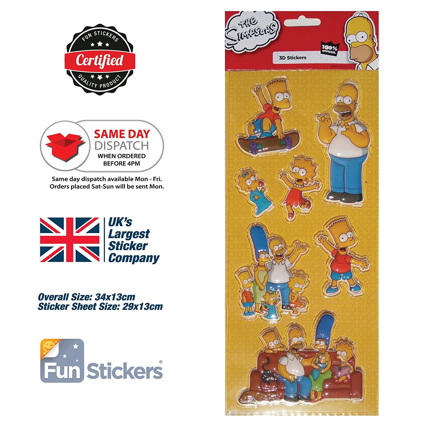 The Simpsons Stickers Bubble 3001 Funstickers