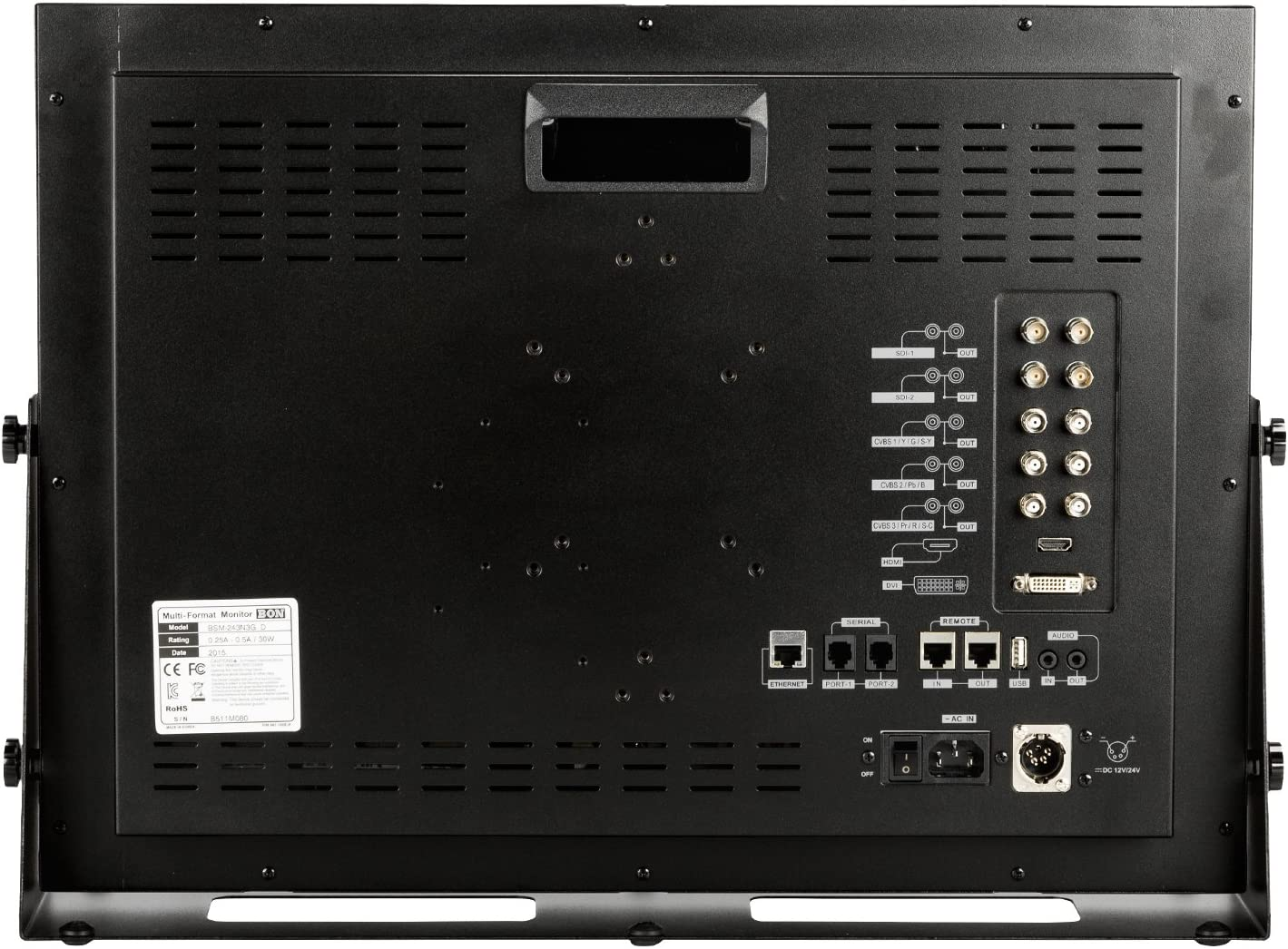 BSM-243N3G Ikan 24 3G//HD//SD-SDI /& HDMI LCD Studio Broadcast /& Production Rack-mountable Monitor Bon