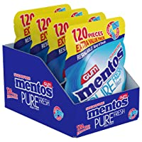Deals on 4-Pack Mentos Pure Fresh Sugar-Free Chewing Gum w/Xylitol