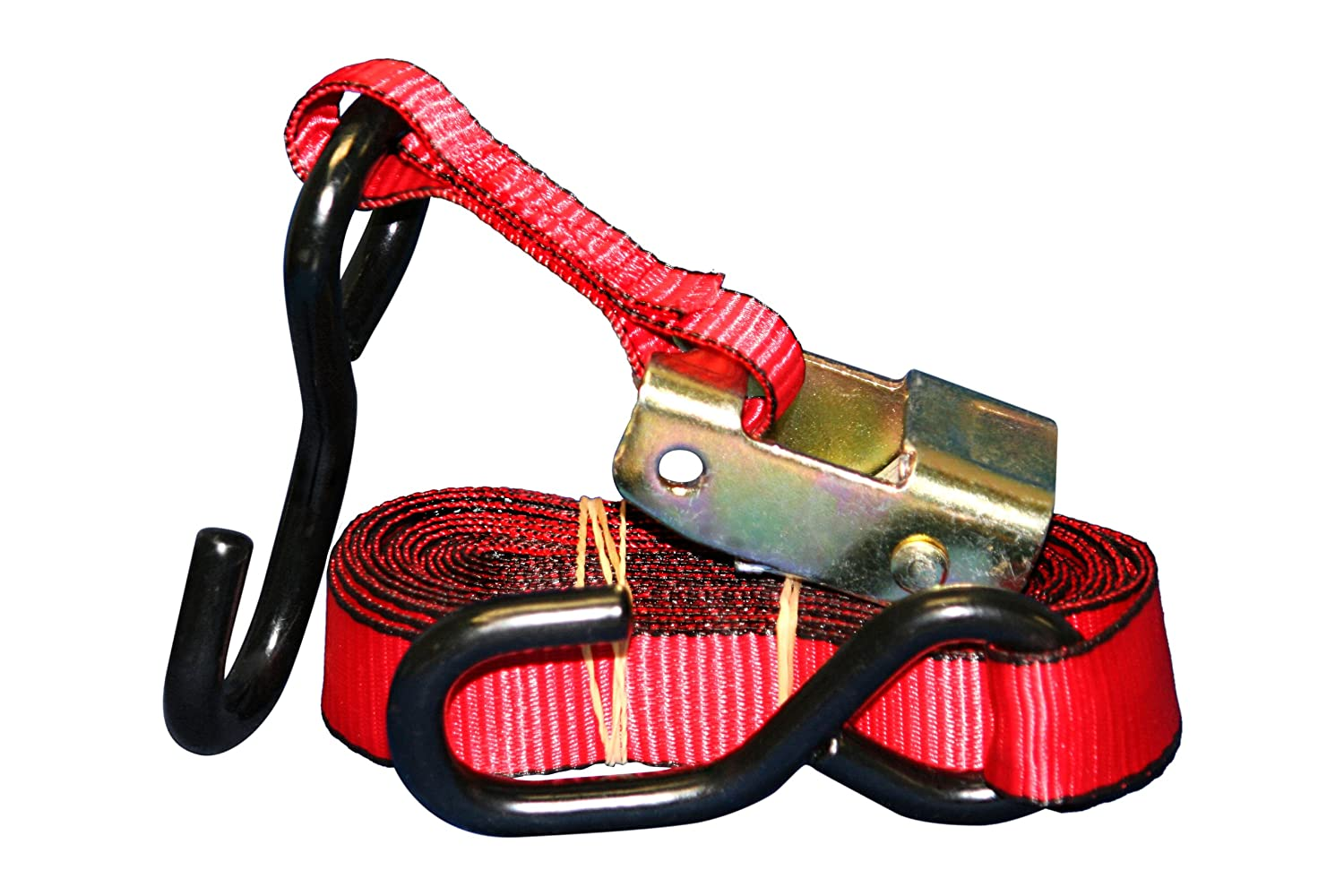 Everest Premium Cambuckle Straps – 1 PK – 1 IN – 6 FT – 300 LBS Working Load – 900 LBS Break Strength – Ratchet Tie Down Alternative – Cargo Straps Perfect for Moving Appliances, Lawn Equipment and Motorcycles S101