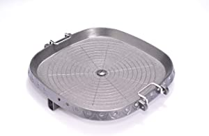 CHIMANT Korean Barbecue Hot Pan Non-Stick Plate, Portable Baked Egg, Beef for Indoor Stovetop or Outdoor BBQ