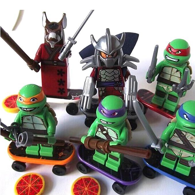 Las tortugas ninja figuras articuladas bloques personajes y ...