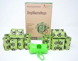 Biodegradable Dog Poop Bags (400 Bag) by Purrpet Pets 1 Holder Included