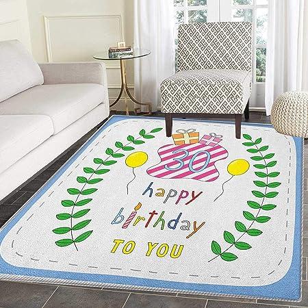 Alfombra de cumpleaños 25 para Dormitorio, Marco Rosa ...