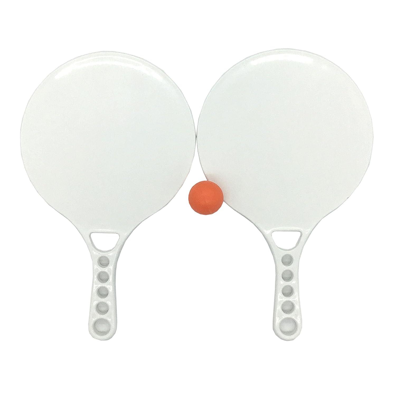 silfrae playa raqueta paddle Ball Juego Dos azul PVC palas una ...