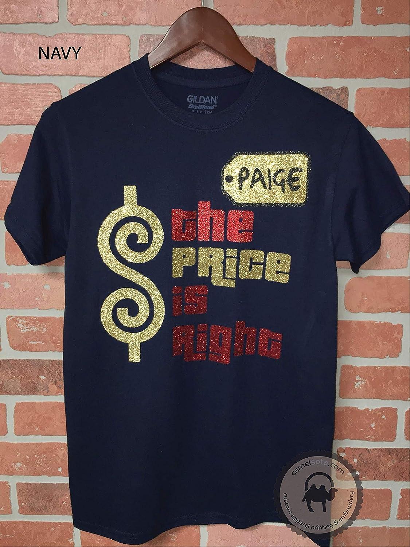 9fc98e9f Amazon.com: Personalized Price is Right Glitter Shirt Personalized Price is Right  Shirt Price is Right Come on Down Shirt Custom Price is Right Shirt ...