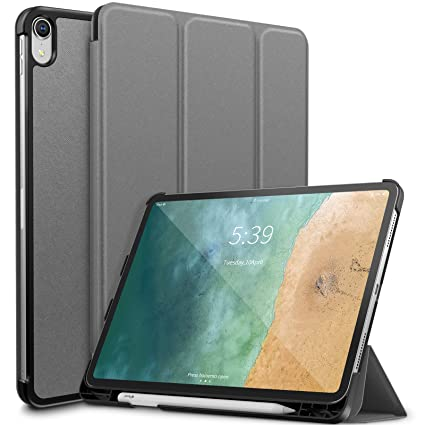 meet 393e5 75761 Infiland iPad Pro 11 Case with Apple Pencil Holder,Tri-Fold Case Cover  Compatible with iPad Pro 11 Inch 2018 Release (Support 2nd Gen Apple Pencil  ...