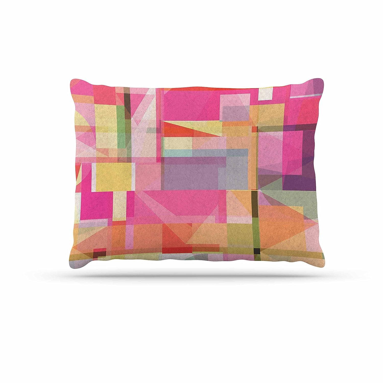 KESS InHouse Fimbis Paku Pink Geometric Dog Bed, 30  x 40
