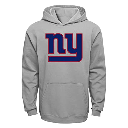 Outerstuff NFL Youth Kids Gray Primary Logo Fleece Pullover Hoodie (Giants 00157fbf3