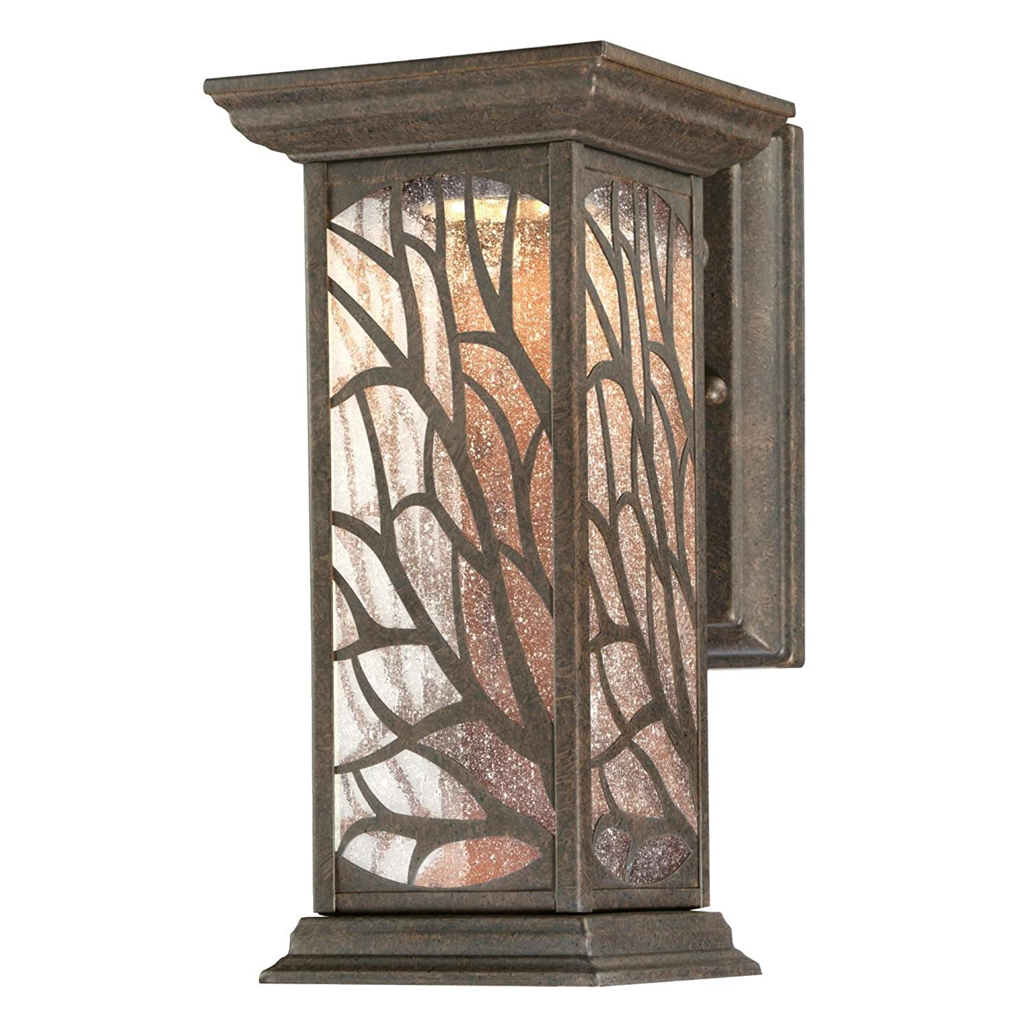 Westinghouse 6312000 Glenwillow One-Light LED, Victorian Bronze Finish with Clear Seeded Glass Outdoor Wall Fixture