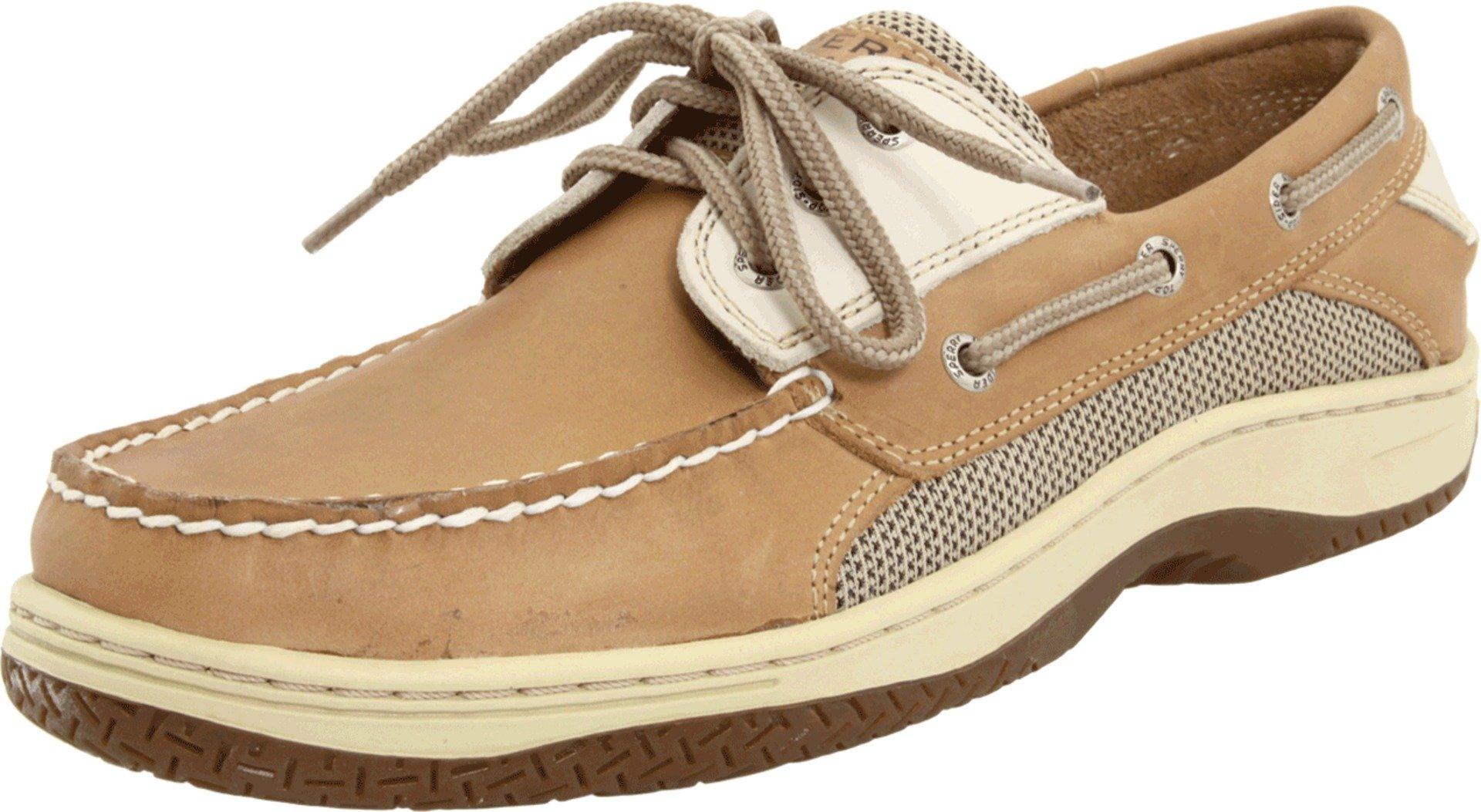 Sperry Mens Billfish 3-Eye Boat Shoe, Tan/Beige, 13 by SPERRY