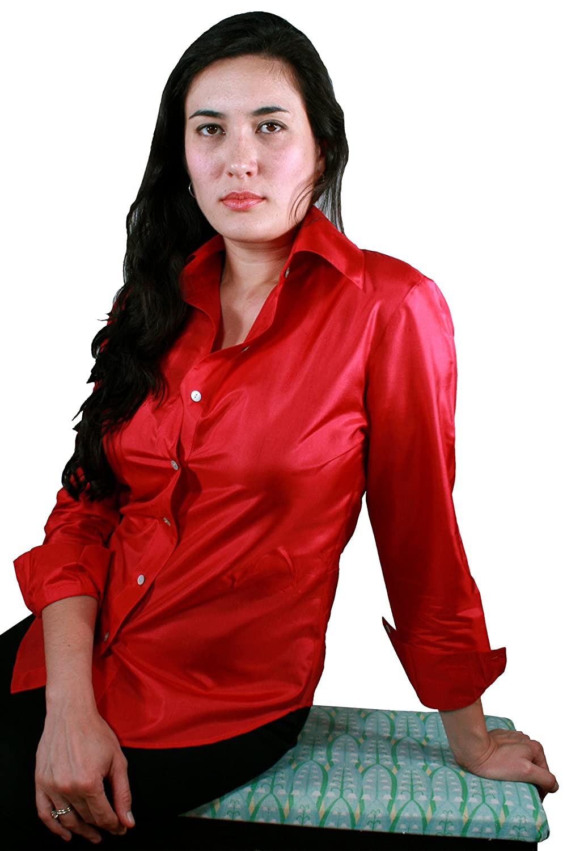 New Classic Silk Button-Down Shirt for Women by ROYAL SILK® - 100  HS82