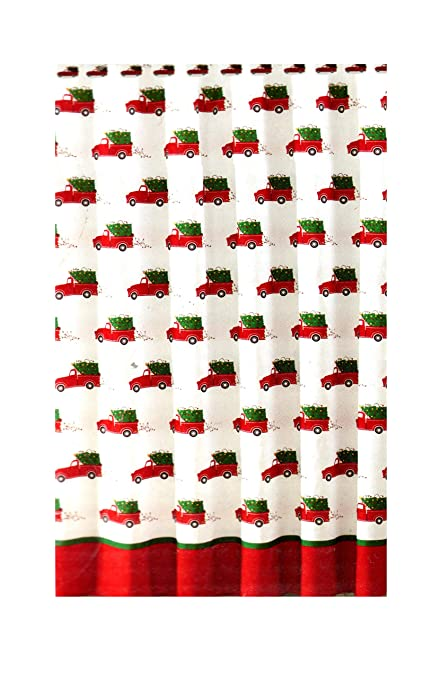 Image Unavailable Not Available For Color Jolly Holiday Home Christmas Shower Curtain Red