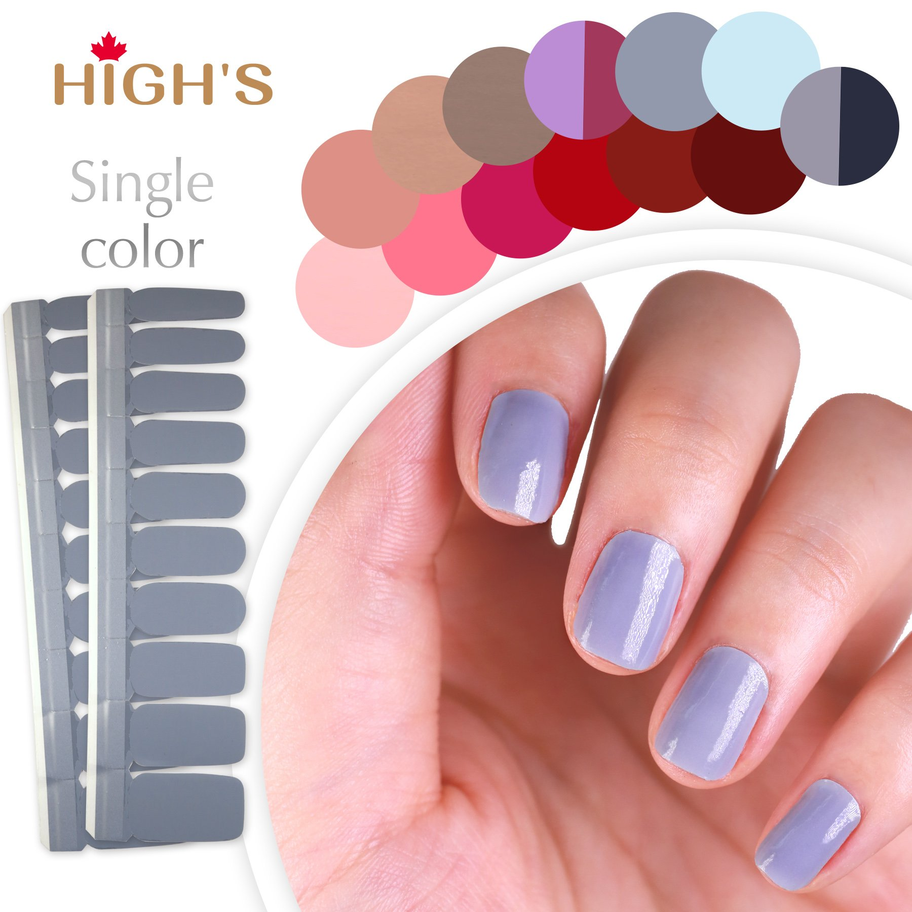 Amazon sally hansen salon effects real nail polish strips highs single color series manicure nail polish strips nail wraps gainsboro solutioingenieria Gallery