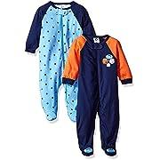 Gerber Baby Boys' 2-Pack Sleep 'N Play, Little Athlete, 0-3 Months