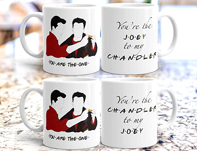 You're The Joey To My Chandler & Chandler To My Joey FRIENDS Tv Show  inspired gift mug set - 11 & 15 oz