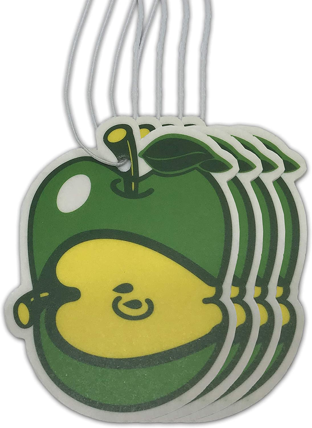 Sonoran Souvenirs Green Apple Air Freshener for Car Fresh Apple Scented Automotive Accessory (Pack of 4)