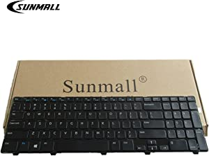 SUNMALL Laptop Keyboard Replacement Without Backlit Compatible with Inspiron 15 3521 3537 15v-1316 15R 3521 3537 5521 5528 5537 5535 M531R, atitude 3540, Vostro 2521 US Layout P/N NSK-LA0SC NSK-DY0SW