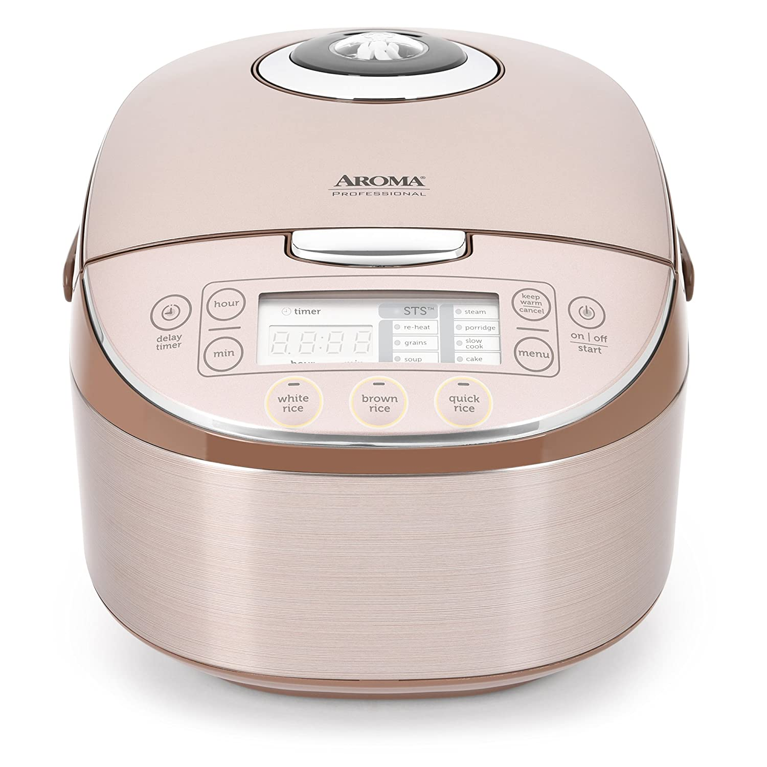 Aroma Housewares MTC-8008 Aroma Professional Rice Cooker/Multicooker Turbo 16 Cup Champagne