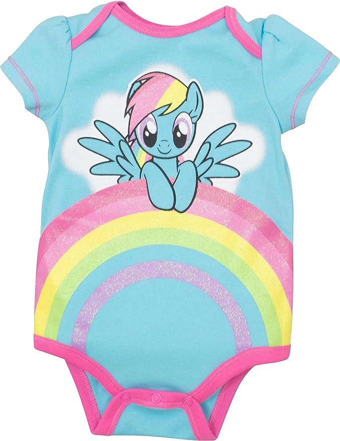 Pony baby bodysuits set