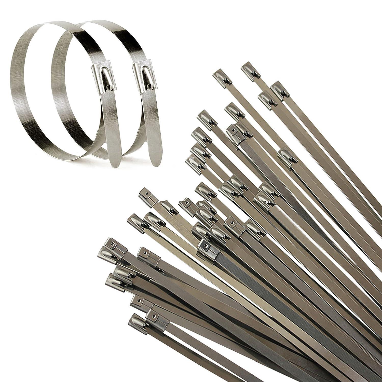 Allright 100 Stk. Edelstahl Metall Stahl Kabelbinder Kabel Binder ...