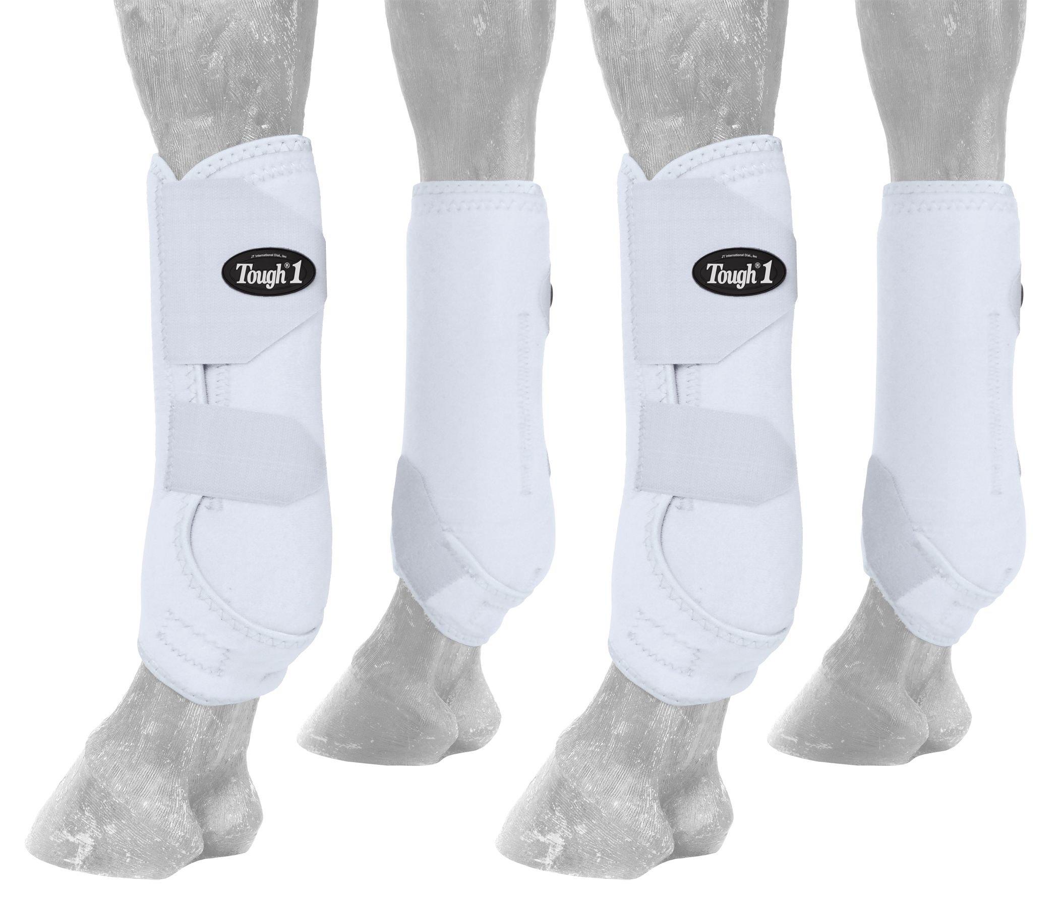 Tough 1 Extreme Vented Sport Boots Set, White, Medium