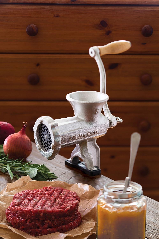 Kitchen Craft Hachoir /à viande No 8 avec entonnoir /à saucisse Fonte