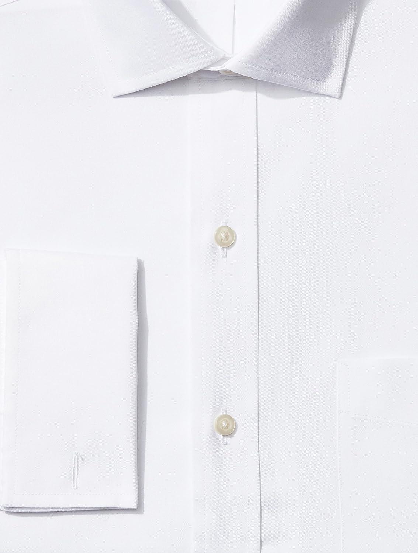 in cotone Supima per abito con colletto francese con polsino francese Marchio non necessita di stiratura vestibilit/à classica camicia da uomo BUTTONED DOWN