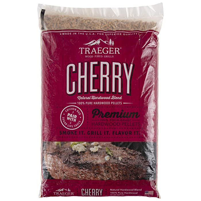 Traeger Grills PEL309 Cherry 100% All-Natural Hardwood Pellets Grill, Smoke, Bake, Roast, Braise and BBQ, 20 lb. Bag