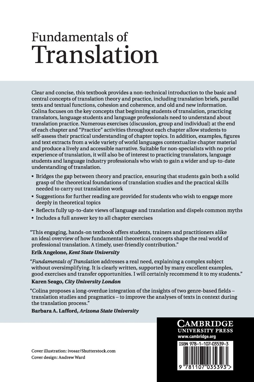Fundamentals of translation amazon co uk sonia colina 9781107035393 books