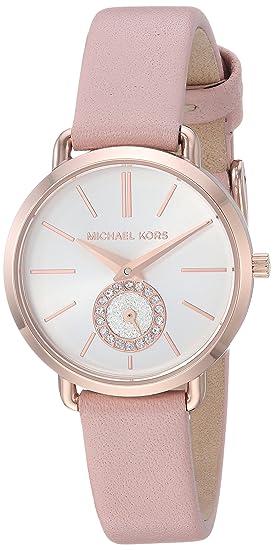 Michael Kors Reloj Analogico para Mujer de Cuarzo con Correa en Cuero MK2735