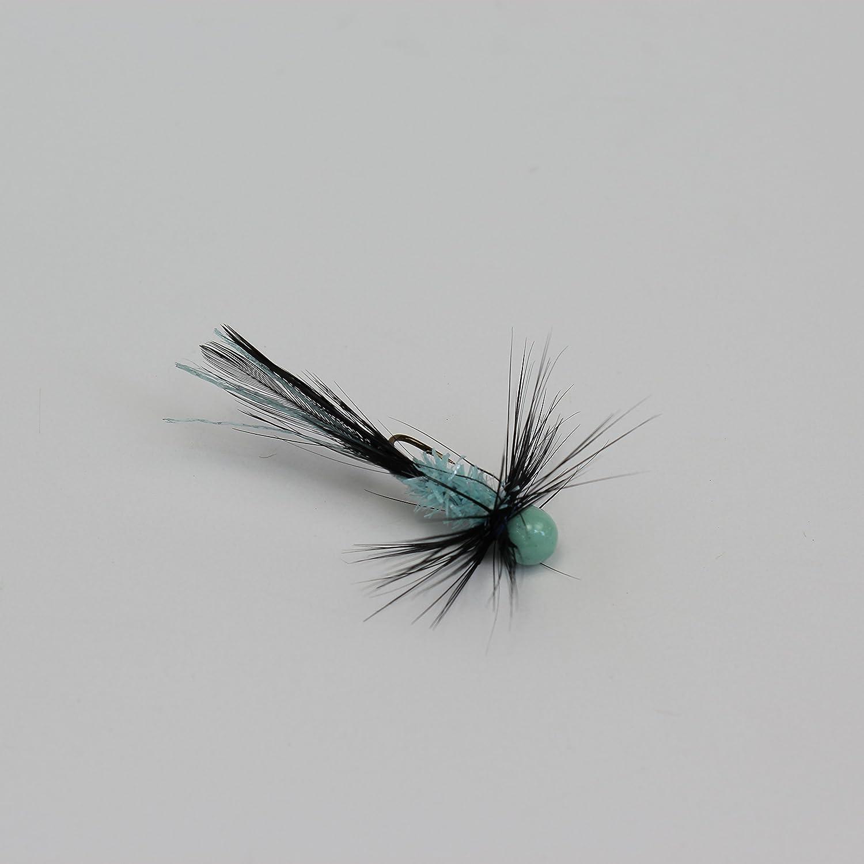 グローbugz-setの3ブラック/ヴィンテージブルーPanfish jigs-crappie、氷釣り B01BRSF1S4 1/32 oz - #8 hook