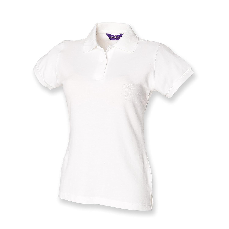 Henbury - Polo piqué ajustada para mujer / señora: Amazon.es: Ropa ...