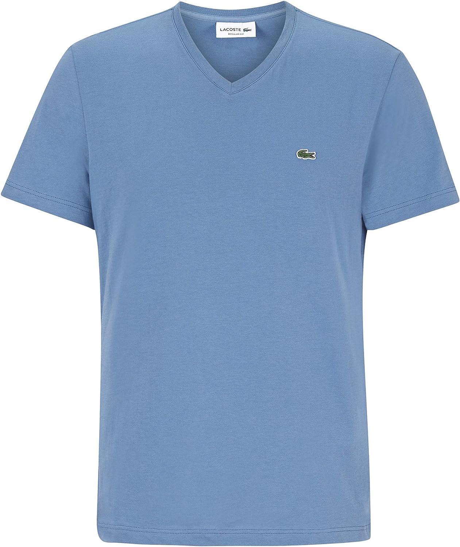 LACOSTE Men/'s V-Neck Pima Cotton Jersey T-Shirt S TH6710 PQ8