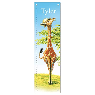 Growth Chart for Kids, Boy or Girl Height Ruler Personalized, Nursery Toddler Bedroom Playroom Decor, Giraffe: Baby