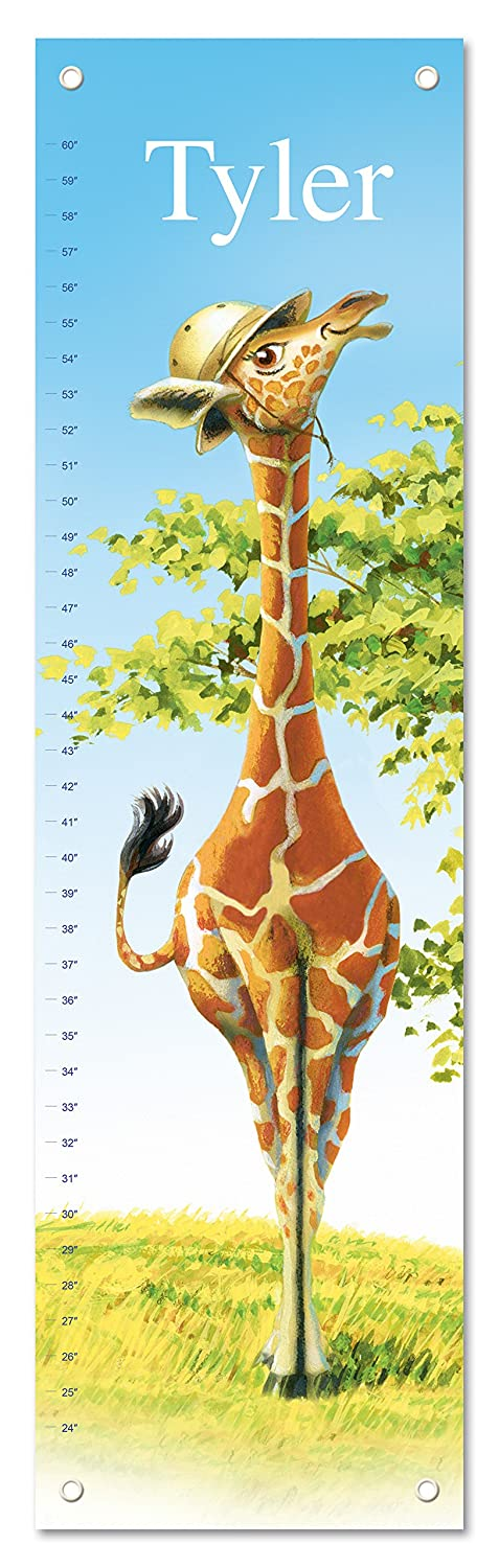 Growth Chart for Kids, Boy or Girl Height Ruler Personalized, Nursery Toddler Bedroom Playroom Decor, Giraffe