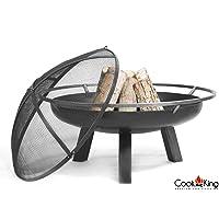 CookKing Porto Feuerschale schwarz XXL ✔ rund ✔ tragbar