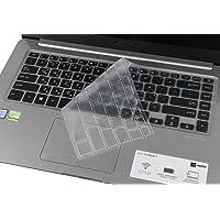 Funda para teclado ASUS VivoBook F510UA, suave al tacto, piel protectora transparente para ASUS VivoBook F510UA de 39,6 cm, VivoBook S 15 S510 S510UQ S510UA de 39,6 cm, VivoBook 15 X510UQ X505BA