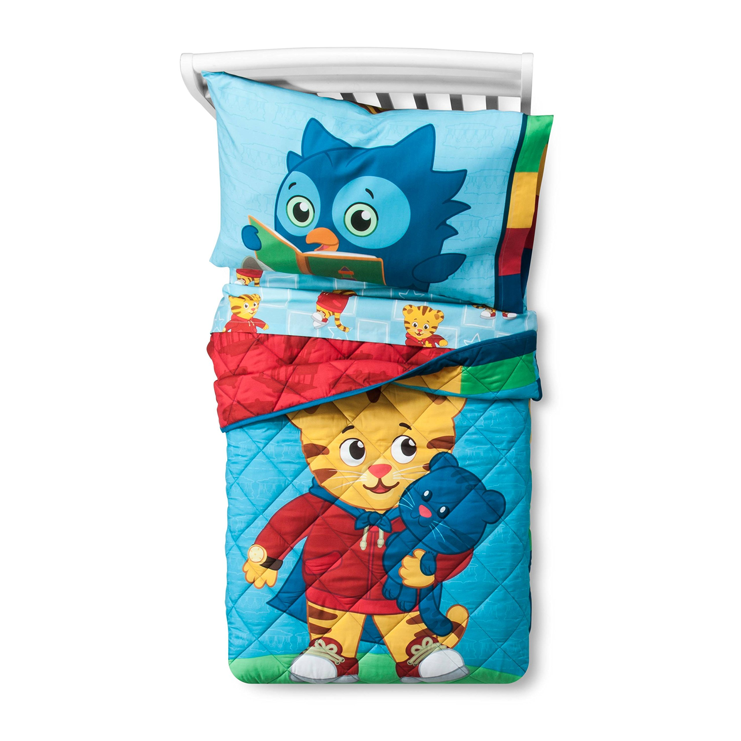 PBS Kids Daniel Tiger Bedding (Blue Toddler Bed)