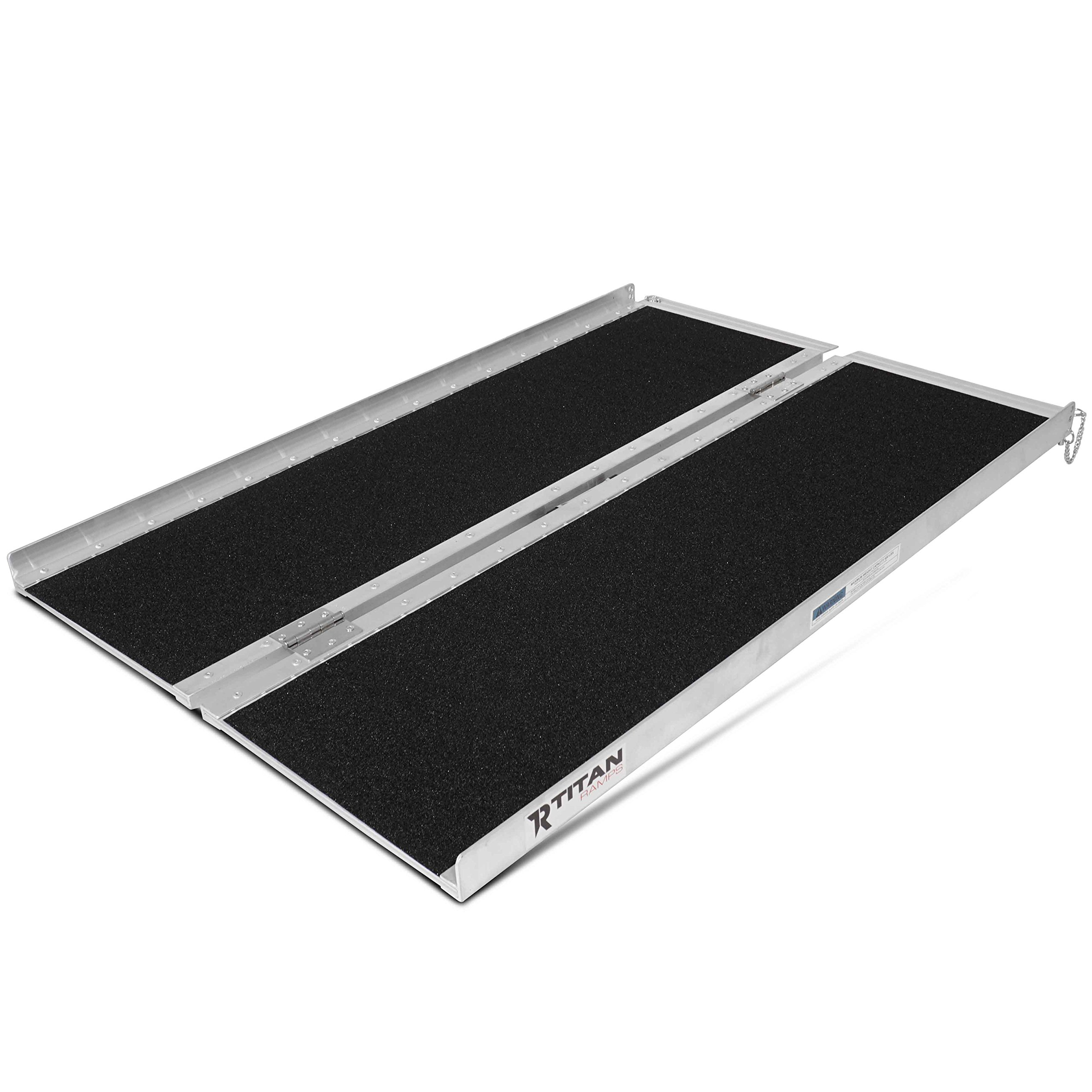 Titan Ramps 4' x 30'' Non-Skid Aluminum Briefcase Traction Ramp Folding Portable by Titan Ramps