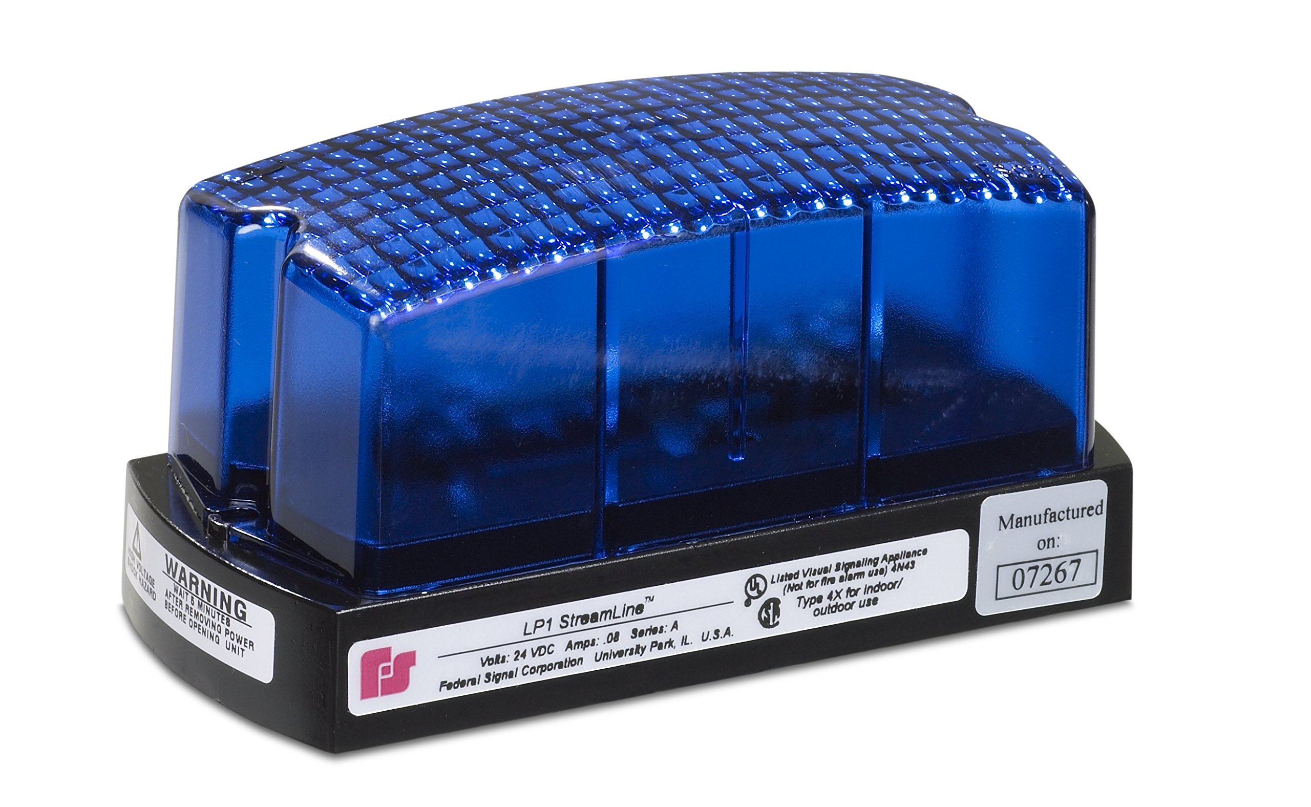 Federal Signal LP1-120B Streamline Low Profile Mini Strobe Light, Surface Mount, 120 VAC, Blue by Federal Signal (Image #1)
