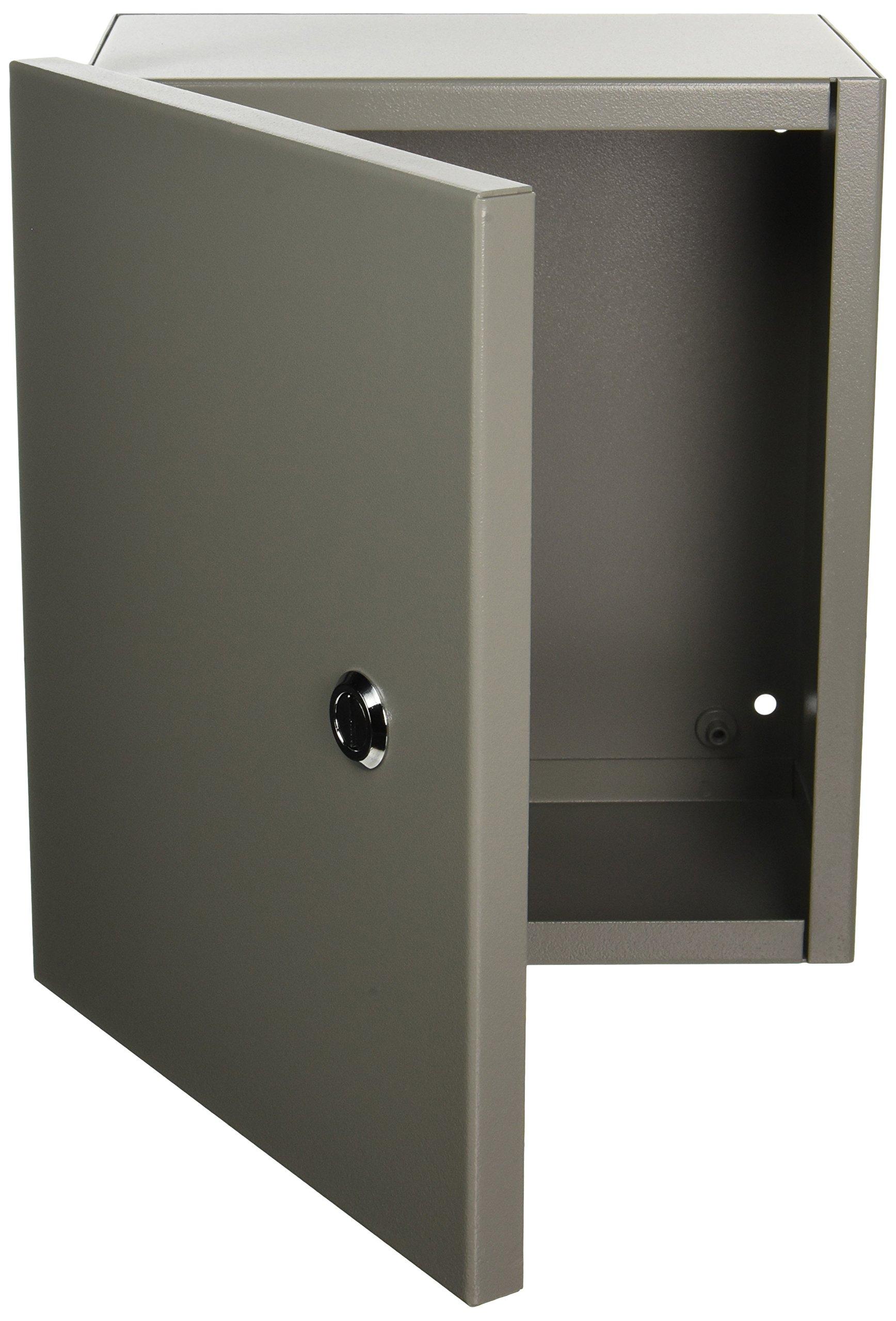 Wiegmann N1C101206 N1C-Series NEMA 1 Small Hinged Cover Wallmount Cabinet, Steel, 12'' x 10'' x 6''
