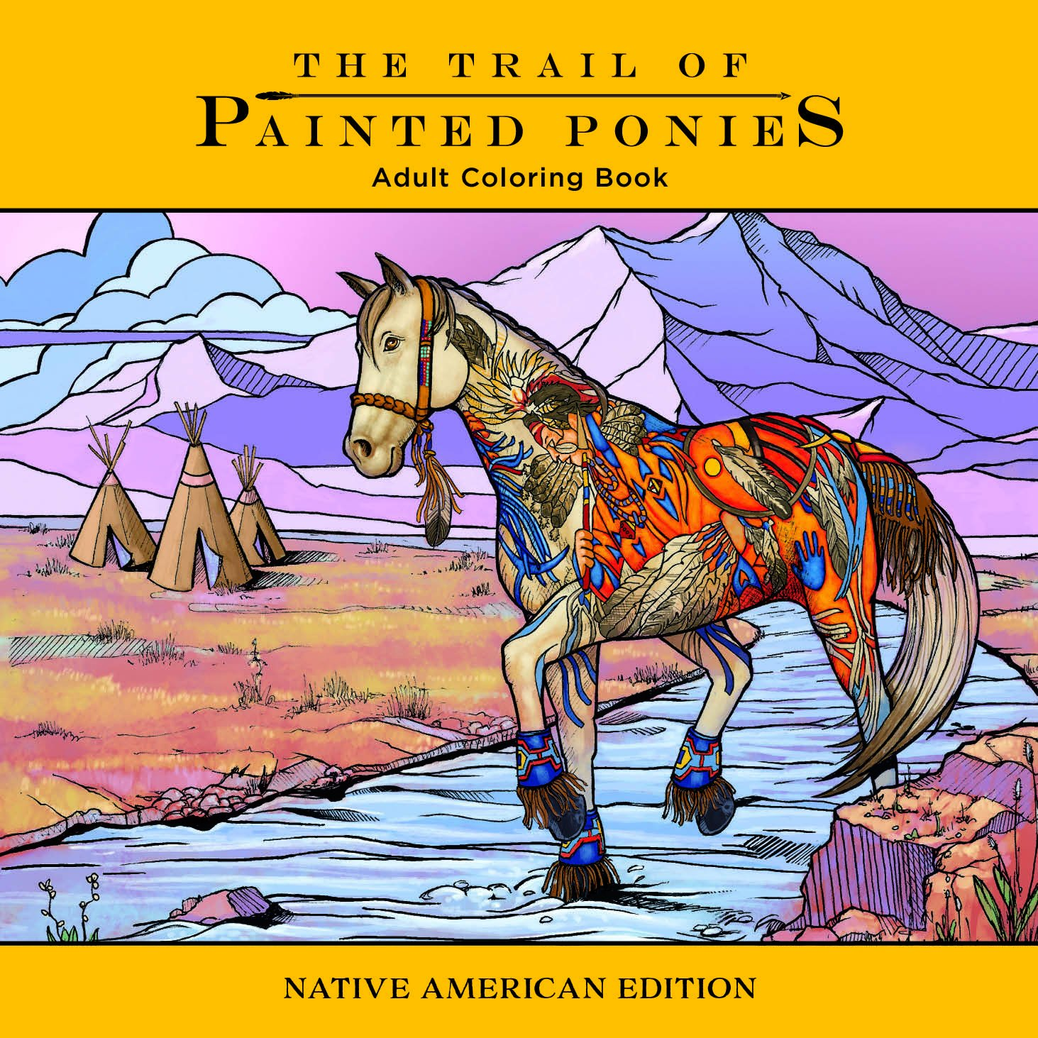 Trail of Painted Ponies Coloring Book: Native American Edition ...