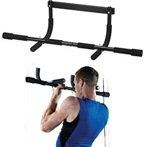 Black Squid Pull Up Bar for Doorway - Professional Strength Training Equipment for Home Gym Exercise - Portable Workout Bar for Indoor & Outdoor Training - Adjustable Multi Grip Chin Up & Dip Bar