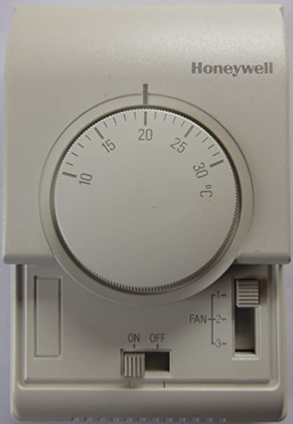 Honeywell T6375C1003 - Termostato Analógico Fan Coil On-Off, Ventilador 3 Veloc, 4