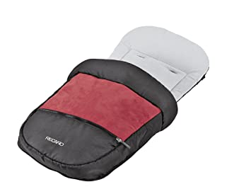 Recaro 5709.20903.00 Akuna - Saco para las piernas para silla de paseo, color gris y rojo: Amazon.es: Bebé